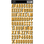 Jenni Bowlin - Cardstock Stickers - Shadow Alphabet - Orange and Black