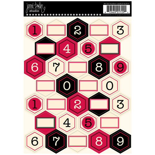 Jenni Bowlin Studio - Cardstock Stickers - Quilted - Numbers