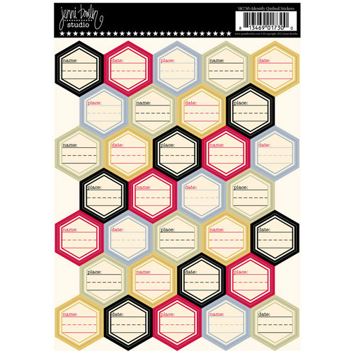 Jenni Bowlin Studio - Cardstock Stickers - Quilted - Identify