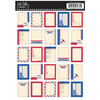 Jenni Bowlin Studio - Cardstock Stickers - Postage Stamp - Air Mail