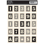 Jenni Bowlin Studio - Cardstock Stickers - Postage Stamp - Stencil Numbers