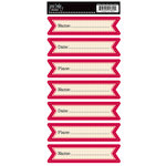 Jenni Bowlin Studio - Red and Black Collection 2012 - Cardstock Stickers - Hear Ye Hear Ye Banner Stickers - Name Date Place