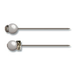 Jenni Bowlin Studio - Pearl and Rhinestone Pins - Pewter