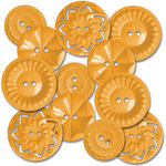 Jenni Bowlin Studio - Vintage Style Buttons - Orange, CLEARANCE