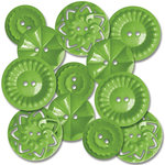 Jenni Bowlin Studio - Vintage Style Buttons - Green, CLEARANCE
