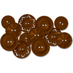 Jenni Bowlin Studio - Vintage Style Buttons - Brown, CLEARANCE