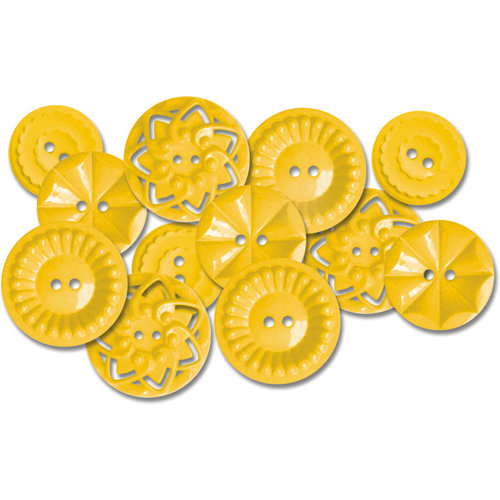 Jenni Bowlin Studio - Vintage Style Buttons - Yellow, CLEARANCE