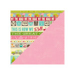 Jillibean Soup - Happy Camper Stew Collection - 12 x 12 Double Sided Paper - 2 Parts Adventure