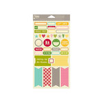Jillibean Soup - Happy Camper Stew Collection - Cardstock Stickers - Labels