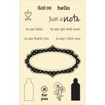 Jillibean Soup - Stampables - Clear Acrylic Stamps - Just A Note