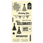 Jillibean Soup - Clear Acrylic Stamp Set - Large - Birthday