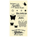 Jillibean Soup - Clear Acrylic Stamp Set - Large - Butterflies