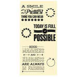 Jillibean Soup - Clear Acrylic Stamp Set - Large - Today Is Full Of Possible