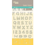 Jillibean Soup - Stamps and Stencils - Clear Acrylic Stamps and Stencil - Alphabet and Ruler