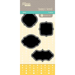 Jillibean Soup - Stamps and Stencils - Clear Acrylic Stamps and Stencil - Labels