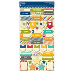 Jillibean Soup - Sightseeing Stew Collection - Cardstock Stickers - Shapes