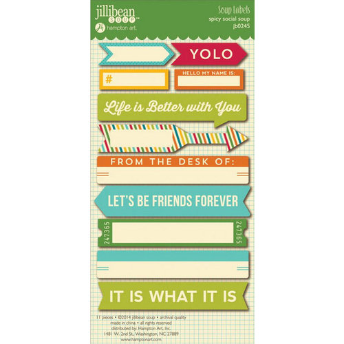 Jillibean Soup - Spicy Social Soup Collection - Cardstock Stickers - Soup Labels