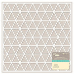 Jillibean Soup - Placemats - 12 x 12 Die Cut Paper - White - Triangles
