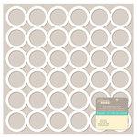 Jillibean Soup - Placemats - 12 x 12 Die Cut Paper - White - Circles
