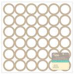 Jillibean Soup - Placemats - 12 x 12 Die Cut Paper - Kraft - Circles