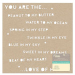 Jillibean Soup - Placemats - 12 x 12 Die Cut Paper - Kraft - You Are