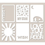 Jillibean Soup - Mini Placemats - 3 x 4 Die Cut Cards - Star Light, Star Bright