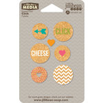 Jillibean Soup - Mix the Media - Printed Cork Circles - Click