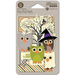 Jillibean Soup - Owloween Stew Collection - Halloween - Pea Pod Parts - Die Cut Cardstock Pieces
