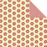 Jillibean Soup - Holly Berry Borscht Collection - Christmas - 12 x 12 Double Sided Paper - 1 Cup Holly Berries