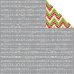 Jillibean Soup - Holly Berry Borscht Collection - Christmas - 12 x 12 Double Sided Paper - Smidge of Snowflakes