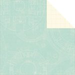 Jillibean Soup - Soup Staples III Collection - 12 x 12 Double Sided Paper - Blue Print