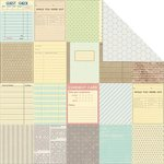 Jillibean Soup - Soup Staples III Collection - 12 x 12 Double Sided Paper - One Way Ticket