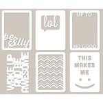 Jillibean Soup - Mini Placemats - 3 x 4 Die Cut Cards - Be Silly