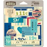Jillibean Soup - Mix the Media Collection - Ephemera - Blue