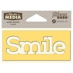 Jillibean Soup - Mix the Media Collection - 4 Inch Stencil - Smile