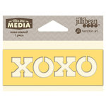 Jillibean Soup - Mix the Media Collection - 4 Inch Stencil - XOXO