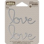 Jillibean Soup - Mix the Media Collection - Wire Words - Love