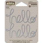Jillibean Soup - Mix the Media Collection - Wire Words - Hello