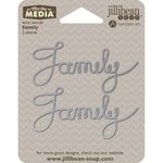 Jillibean Soup - Mix the Media Collection - Wire Words - Family