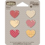 Jillibean Soup - Mix the Media Collection - Die Cut Vellum Shapes - Hearts
