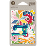 Jillibean Soup - Sew Sweet Sunshine Soup Collection - Pea Pod Parts - Die Cut Cardstock Pieces - Shapes