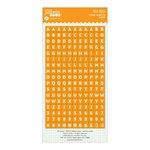 Jillibean Soup - Cardstock Stickers - Mini Alphabet - Orange