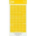 Jillibean Soup - Cardstock Stickers - Mini Alphabet - Yellow
