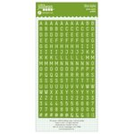 Jillibean Soup - Cardstock Stickers - Mini Alphabet - Green
