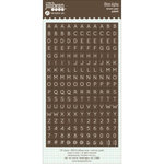 Jillibean Soup - Cardstock Stickers - Mini Alphabet - Brown