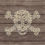 Jillibean Soup - Halloween - DIY String Art - Crossbones