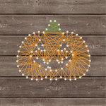 Jillibean Soup - Halloween - DIY String Art - Pumpkin - Carved
