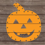Jillibean Soup - Halloween - DIY Lighted Wood Sign Kit - Pumpkin