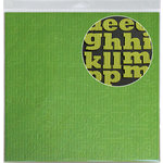 Jillibean Soup - Alphabeans Collection - Corrugated Alphabet - Green