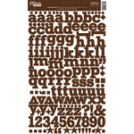 Jillibean Soup - Alphabeans Collection - Alphabet Cardstock Stickers - Baked Brown